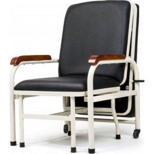 Καρέκλα Συνοδού Δερμάτινη Μαύρη - 0808876