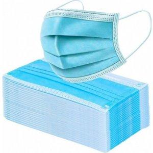 Μάσκες Μιάς Χρήσης, τριών στρωμάτων (3ply) 50 τεμάχια, υποαλλεργικές