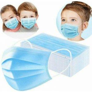 Παιδική Μάσκα Προστασίας μιας Χρήσης 3ply Μπλε