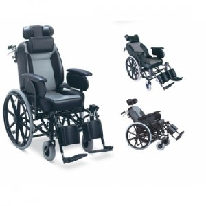 Αναπηρικό Αμαξίδιο με Μεγάλους Φουσκωτούς Τροχούς, Ανυψούμενα Υποπόδια, Ρυθμιζόμενα Πλαϊνά, Αναπαυτικό Ανυψούμενο Κάθισμα και Ανακλινόμενη Πλάτη και Antispin Βοηθητικό Ροδάκι - 0808838