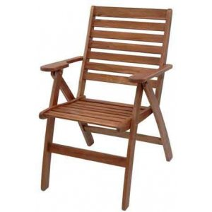 Καρέκλα Ξύλινη Πτυσσόμενη με Μπράτσα Ακακία - W60xD64xH46/91cm