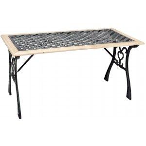 Τραπέζι Μαντέμι με Ξύλο - L115xW55xH58cm