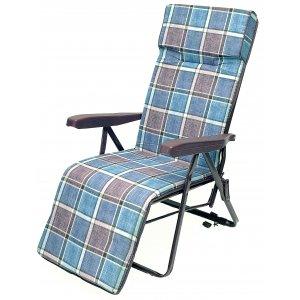 Πολυθρόνα - Κρεβάτι Μεταλλική Ενισχυμένη Πολ/ων Θέσεων με Μπράτσα - Ψηλή Πλάτη - Υποπόδιο - Με Μαξιλάρι 3,5cm & 6,5cm