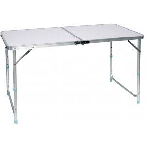 Τραπέζι Πτυσσόμενο Αλουμινίου Σπαστό Βαλίτσα - L120xW60xH53,5/61/70cm