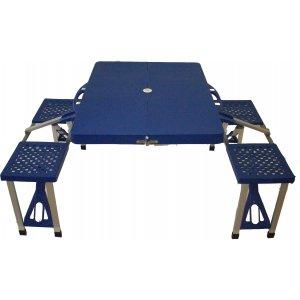 Τραπέζι Πτυσσόμενο Βαλιτσάκι Πικ-Νικ 4 Ατόμων Αλουμινίου