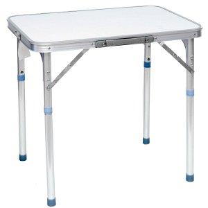 Τραπέζι Πτυσσόμενο Αλουμινίου με Τηλεσκοπικά Πόδια - L60xW40xH25/57cm