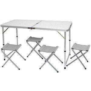 Σετ Τραπέζι Βαλίτσα & Τέσσερα Σκαμπώ με Polyester 600D