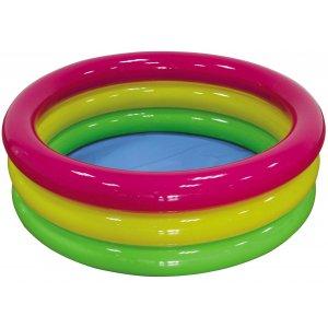 Φουσκωτή Τρίχρωμη Πισίνα 3 Δαχτυλιδιών - 114x38cm - 7-020521