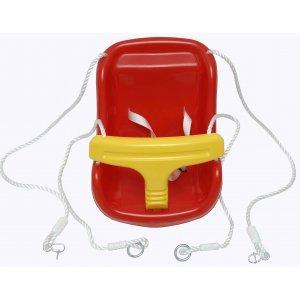 Κούνια Κάθισμα Πλαστική με Σχοινιά - 28x36x42cm - 361-7712