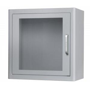 Κουτί επιτοίχιο μεταλλικό φύλαξης απινιδωτή με συναγερμό ARKY - Λευκό