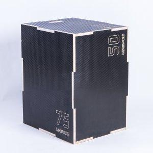 3 σε 1 Πλειομετρικό Κουτί Ξύλινο (Plyo Box) (Anti-Slip)  Β-8157