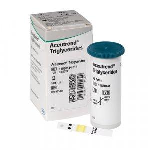 Ταινίες Μέτρησης Τριγλυκεριδίων συσκευής Accutrend Plus Roche Accutrend Triglycerides 25τμχ