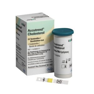 Ταινίες Μέτρησης Χοληστερίνης συσκευής Accutrend Plus Roche Accutrend Cholesterol 25τμχ