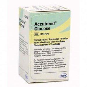 Ταινίες Μέτρησης Σακχάρου συσκευής Accutrend Plus Roche Accutrend Glucose 25τμχ