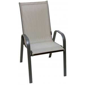 Καρέκλα Μεταλλική Κήπου με Τext 2*1
