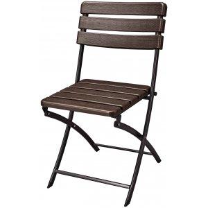 Καρέκλα με Πτυσσόμενο Κάθισμα σε Απομίμηση Ξύλου