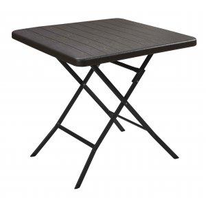 Τραπέζι Πτυσσόμενο Τετράγωνο σε Απομίμηση Ξύλου - 78x78εκ.