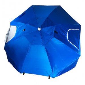 Ομπρέλα-Σκηνή Θαλάσσης Μπλε 2,35m με Μεταλλικό Ιστό