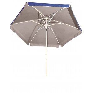 Ομπρέλα Βεράντας - Κήπου - Θαλάσσης Μπλε με Ασημί Επίστρωση - Βαρέως Τύπου Ημιεπαγγελματική 2m με Μεταλλικό Ιστό