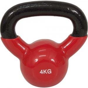 Kettlebell με επένδυση Βινυλίου 4kg - Κόκκινο