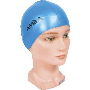 Σκουφάκια πισίνας απλά μονόχρωμα - Μπλε ανοιχτό