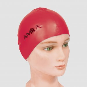 Σκουφάκια πισίνας απλά μονόχρωμα - Κόκκινο