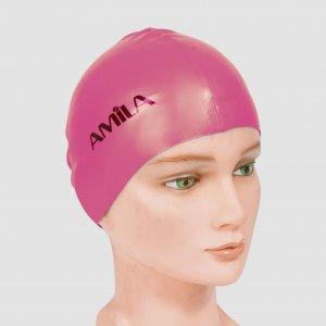 Σκουφάκια πισίνας απλά μονόχρωμα, Ροζ