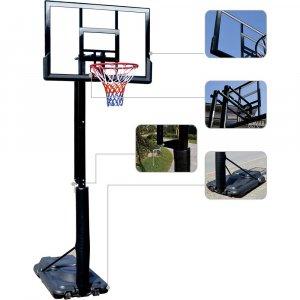 Deluxe Basketball System - Μεταβαλλόμενο ύψος 230-305cm, ρύθμιση με μανιβέλα - Σε 12 άτοκες δόσεις
