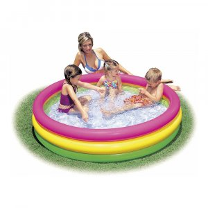 Πισίνα παιδική στρογγυλή, τρίχρωμη - Διαστάσεις: 147x33cm (καθαρό ύψος 43cm) - Ηλικία: 3+