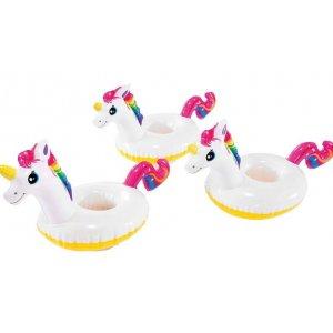 Φουσκωτός Μονόκερος Ποτηροθήκη (3 τεμάχια) - Unicorn Drink Holder - 57506