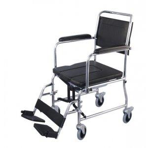 Αναπηρικό Αμαξίδιο Εσωτερικού Χώρου με Πτυσσόμενα Πλαϊνά, Αποσπώμενα Υποπόδια και Δοχείο Τουαλέτας - 0808396