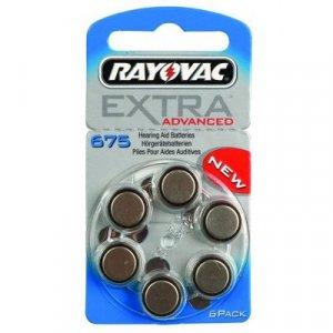 Μπαταρίες Ακουστικών Βαρηκοΐας 6τεμ. SILVER 1.45V RAYOVAC 675MF PR44