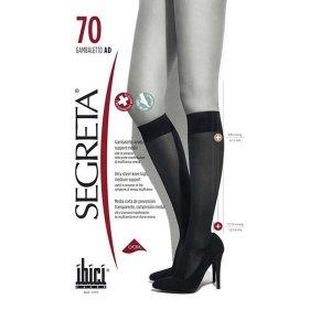 Κάλτσες Κάτω Γόνατος Ελαφριάς Συμπίεσης Segreta Gambaletto AD 70Den Ibici