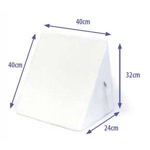 Μαξιλάρι με Κλίση (Σφήνα Μεσαία) 40x32x1-24cm - Λευκό AC-714B