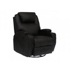 Πολυθρόνα Relax-massage κουνιστή θερμαινόμενη με περιστροφή JOEY Μαύρο  84cm*92cm*109cm - Σε 12 άτοκες δόσεις