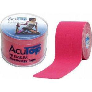 Επίδεσμος Κινησιοθεραπείας για Επαγγελματίες Αθλητές Acu Top Premium 5cmx5m - Ροζ