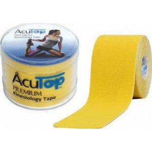 Επίδεσμος Κινησιοθεραπείας για Επαγγελματίες Αθλητές Acu Top Premium 5cmx5m - Κίτρινο