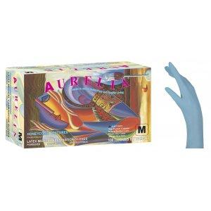 Εξεταστικά γάντια Μπλε Aurelia ελαφρώς πουδραρισμένα, μίας χρήσης - 110.003 - 1000 τεμάχια