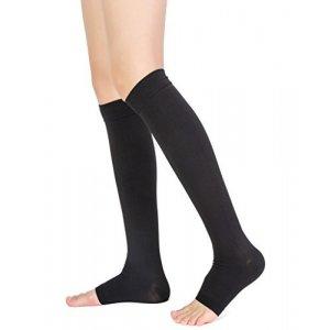 Κάλτσες Διαβαθμισμένης Συμπίεσης Class 2 Κάτω Γόνατος 304 - Μαύρες