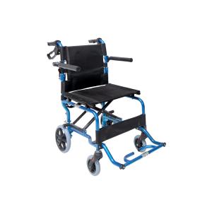 Αναπηρικό Αμαξίδιο Μεταφοράς Πλήρως Πτυσσόμενο, Αλουμινίου με Τσάντα Μεταφορά και Ζώνη Ασφαλείας - 0808377