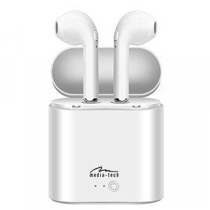 Πολυλειτουργικά Ακουστικά Bluetooth 4.2 Media-Tech TWS - Λευκά