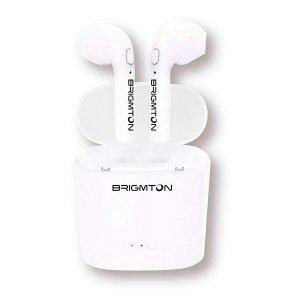 Ασύρματα Ακουστικά SmartPods BRIGMTON BML-15 με Μικρόφωνο - Λευκό