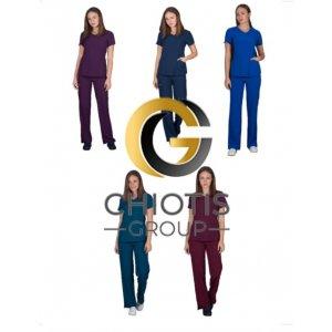Ιατρική στολή Σετ Παντελόνι & Μπλούζα Stretch για Γυναίκες