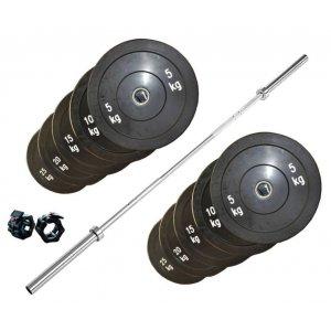 Επαγγελματική Μπάρα CrossFit Σετ 120kg - HBC204-M