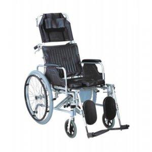 Αναπηρικό Αμαξίδιο Με Ανακλινόμενη Πλάτη και Δοχείο WC AC–59Δ