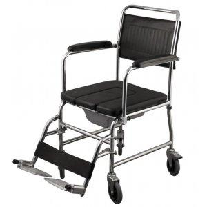 Αναπηρικό Αμαξίδιο Εσωτερικού Χώρου με Σταθερά Πλαϊνά, Αποσπώμενα Υποπόδια και Δοχείο Τουαλέτας