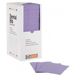 Οδοντιατρική πετσέτα Μωβ (500τμχ) 1ply χαρτί + 1ply πλαστικό - 33cm x 45cm - 108.082.PU