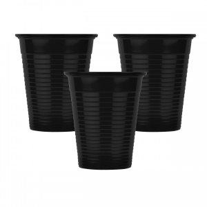 Οδοντιατρικά πλαστικά ποτηράκια μίας χρήσης Μαύρο (100τμχ) - 132.001.BL