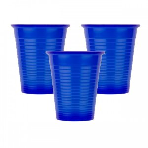 Οδοντιατρικά πλαστικά ποτηράκια μίας χρήσης Μπλε (100τμχ) - 132.001.DB