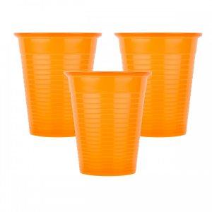 Οδοντιατρικά πλαστικά ποτηράκια μίας χρήσης Πορτοκαλί (100τμχ) - 132.001.O